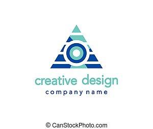 logotipo, Criativo, triangulo, desenho