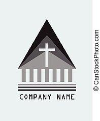 logotipo, cristão, igreja