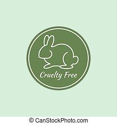 logotipo, crueldade, livre
