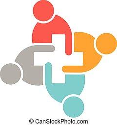 logotipo, cuidado, salud, gente