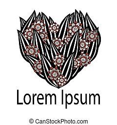 logotipo, cuore, vettore, illustration., elemento