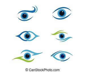 logotipo, cura occhio