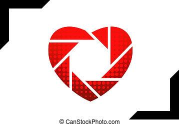 logotipo, dado forma, coração