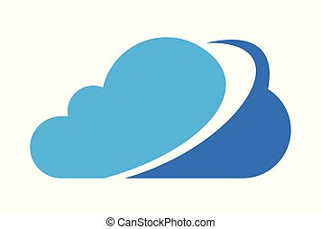 logotipo, dati, nuvola, calcolare