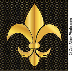 logotipo, de, emblema, fleur, lis