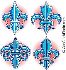 logotipo, de, fleur, lys