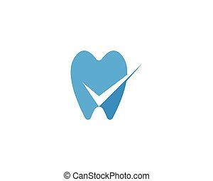 logotipo, dentale, sagoma