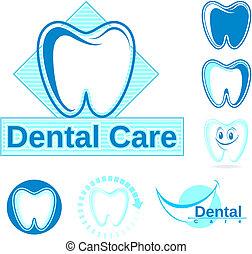 logotipo, dentale, vettore, clipart