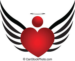 logotipo, desenho, anjo, ícone