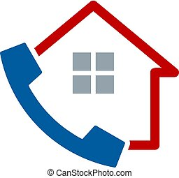 logotipo, desenho, chamada casa, ícone