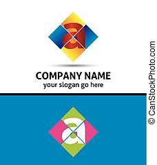logotipo, desenho, letra