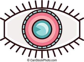 logotipo, desenho, modelo, olho