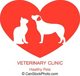 logotipo, desenho, modelo, para, animal estimação faz compras, e, veterinário, clínicas