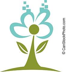 logotipo, desenho, paisagem, digital