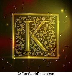 logotipo, design., vindima, floral, vetorial, illustration.