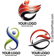 logotipo, desporto