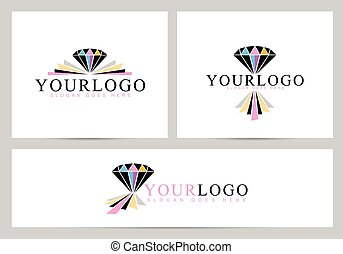 logotipo, diamante, vector