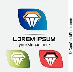 logotipo, diamante