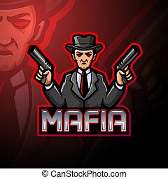 logotipo, diseño, esport, mafia, mascota