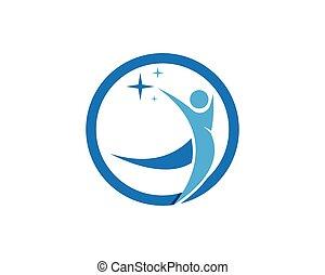 logotipo, diseño, humano, plantilla, caracter
