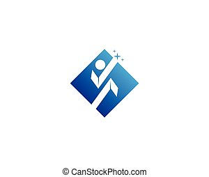 logotipo, diseño, plantilla, humano, caracter