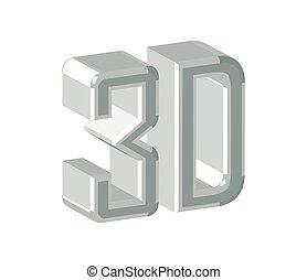 logotipo, disegno, 3d