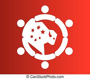 logotipo, disegno, bufalo