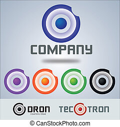 logotipo, ditta, bersaglio, cerchio, disegno
