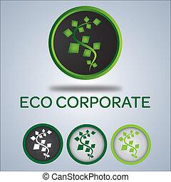 logotipo, ditta, ecologia, disegno