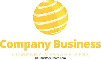 logotipo, ditta, globale, simbolo, affari