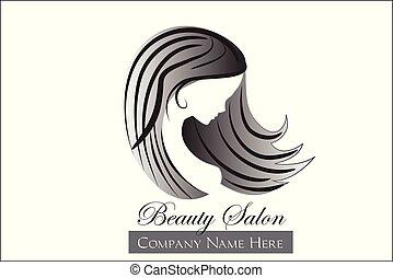 logotipo, donna, moda, bellezza