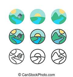 logotipo, ecologia, modelo