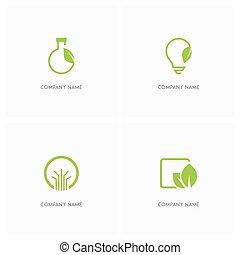 logotipo, ecologia, natura