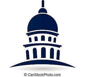 logotipo, edificio capitolio