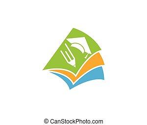 logotipo, educação, modelo