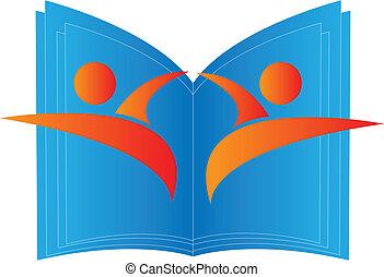 logotipo, educação, sucesso