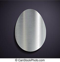 logotipo, egg., metallico, appartamento