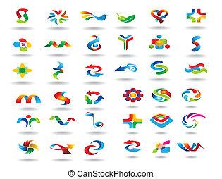 logotipo, elementos, diseño