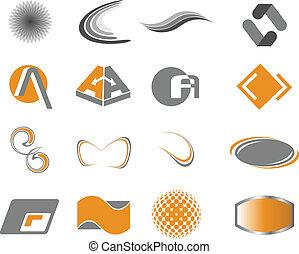 logotipo, elementos