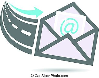 logotipo, email, carretera, internet