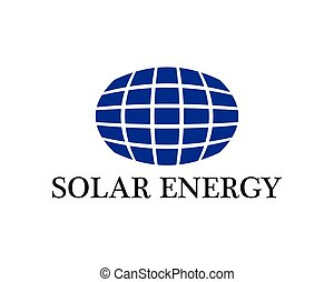 logotipo, energia, vetorial, solar