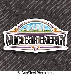 logotipo, energia, vettore, nucleare