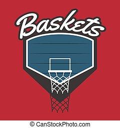 logotipo, equipe basquetebol