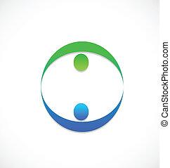logotipo, equipe, comércio pessoas, sócios