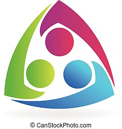 logotipo, equipe, pessoas negócio