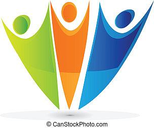 logotipo, equipe, swooshes