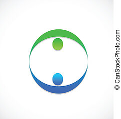 logotipo, equipo, personas empresa, socios