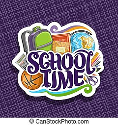 logotipo, escola, vetorial