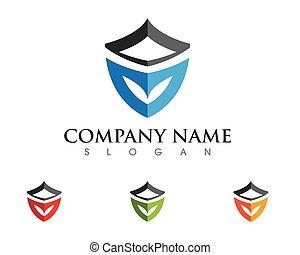 logotipo, escudo, modelo
