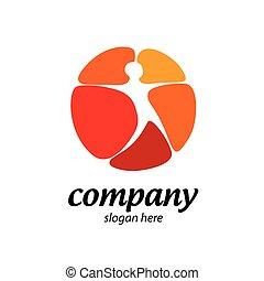 logotipo, estrela, homem